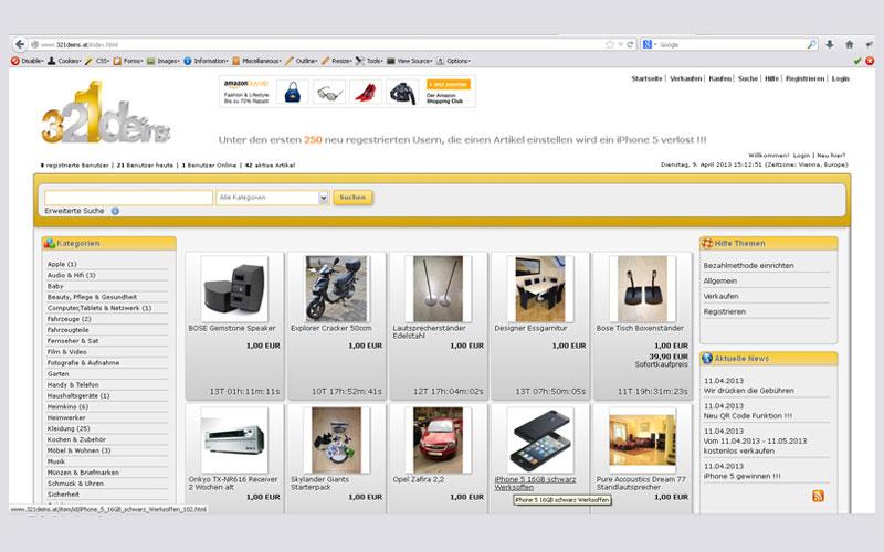styrolart print- und webdesign - 321deins Auktionswebsite