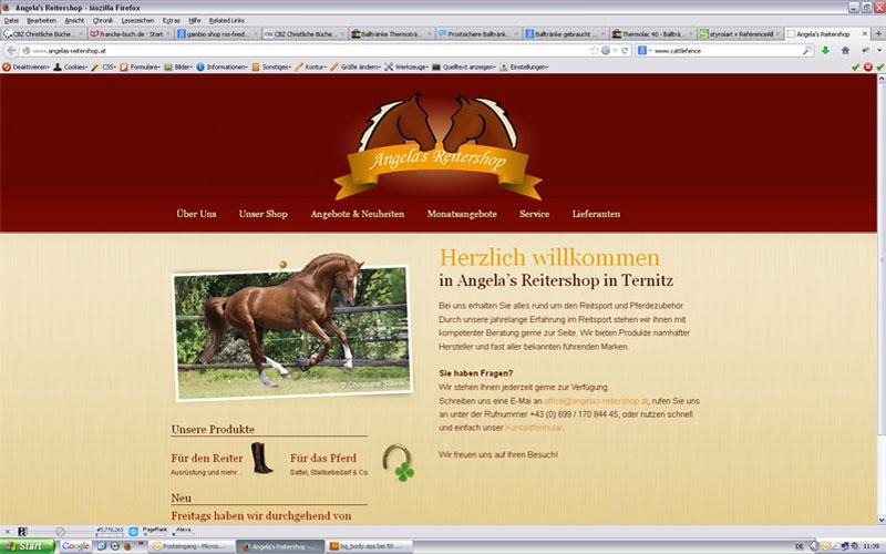 styrolart print- und webdesign - Website Angelas Reitershop