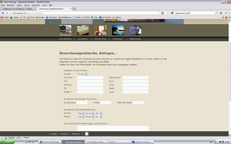 styrolart print- und webdesign - Website Hotel Alpenland in Wattens