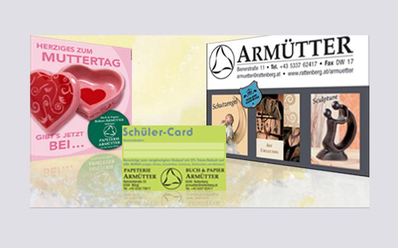 styrolart print- und webdesign - Logoerstellung, Drucksorten innova, Armütter