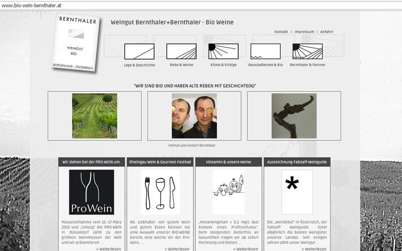 styrolart print- und webdesign - Website Bio-Weingut Bernthaler