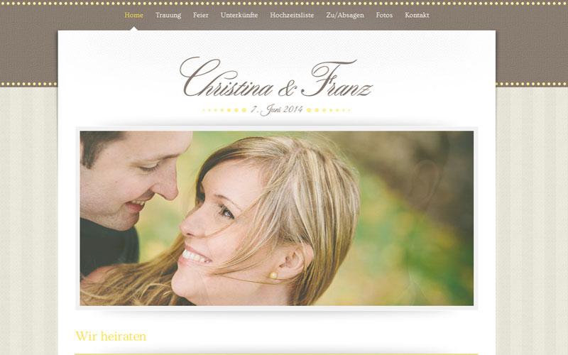 styrolart print- und webdesign - Website Hochzeit Christina und Franz