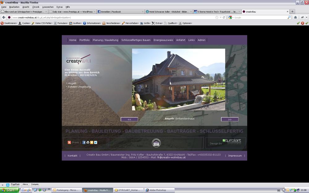 styrolart print- und webdesign - CMS Website Creativbau 2011