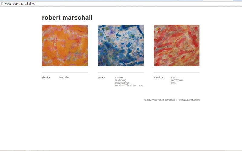 styrolart print- und webdesign - CMS künstlerwebsite Mag. Robert Marschall