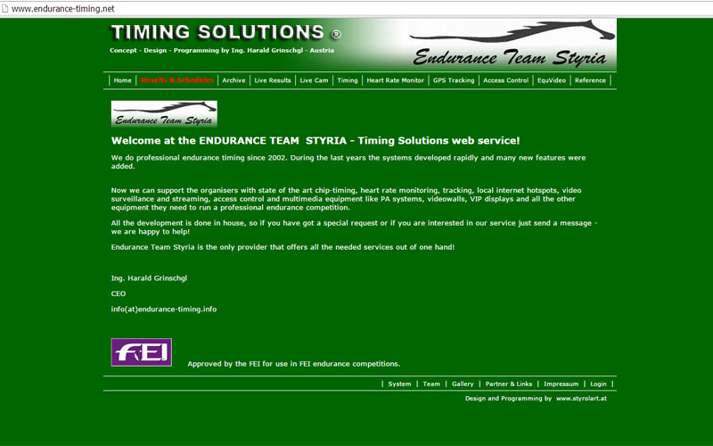 styrolart print- und webdesign - PHP Programmierung Endurancet Timing, live results
