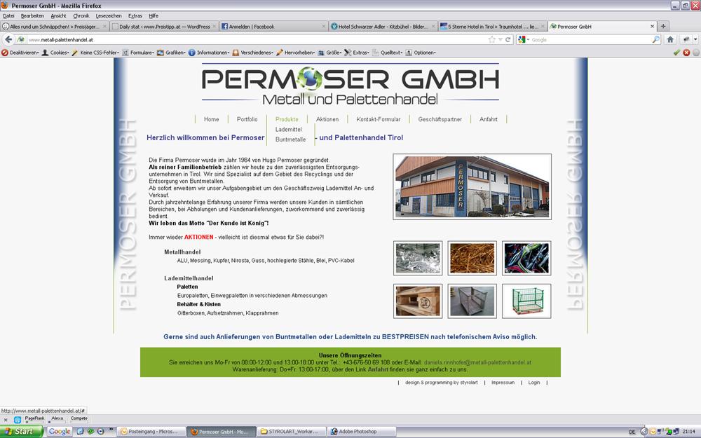styrolart print- und webdesign - PhP Programmierung, CMS, Website Permoser gmbh, Logoerstellung