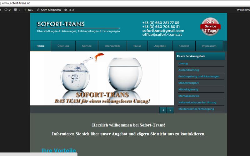 styrolart print- und webdesign - Sofort-Trans Website, CMS Wordpress inkl. SEO Grundbasis