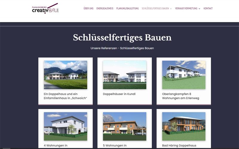 Styrolart Print und Webdesign - Planungsbüro Creativbau Kofler - Redesign Website