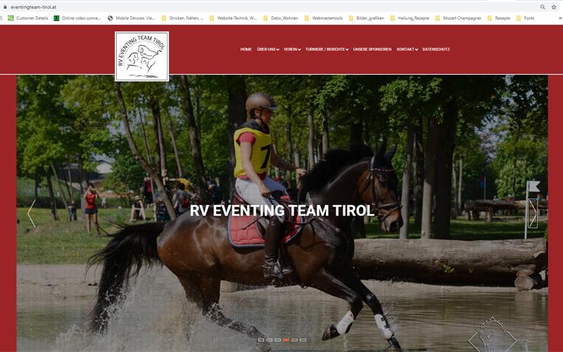 Styrolart Print und Webdesign - Eventing Team Tirol - Webdesign Websiteerstellung