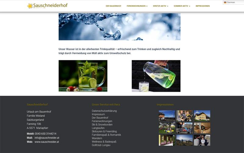 Styrolart Print und Webdesign - Biobauernhof Sauschneiderhof - Webdesign Websiteerstellung