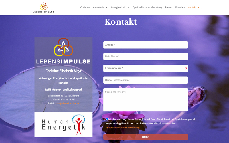Styrolart Print und Webdesign - Lebensimpulse Christine Elisabeth Mayr - Webdesign Websiteerstellung